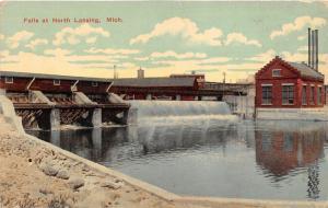 Lansing Michigan~Grand River Falls @ North Side of City~c1910 Postcard