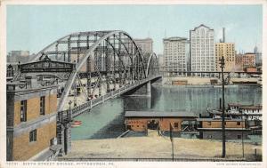 Pittsburgh Pennsylvania~Sixth Street Bridge Close Up~1910 Detroit Pub Co~#12721
