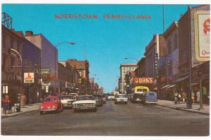 Main Street , NORRISTOWN , Pennsylvania , 50-60s