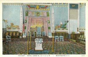 PC CPA FREEMASONRY, WASHINGTON D.C. , NAVAL LODGE, EAST, Postcard (b16084)