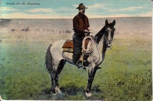 Ready for the Roundup - Rider on Horse