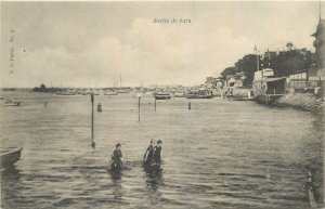 Postcard France sortie de bain