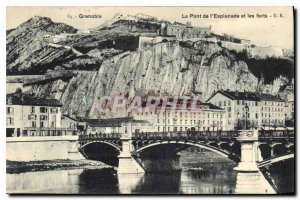 Old Postcard The Esplanade Bridge and strong