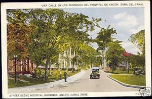 panama canal zone, ANCON, Hospital Grounds (1930s) Car