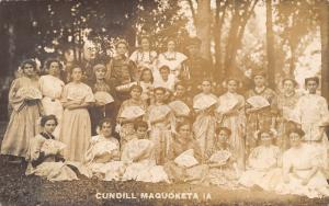 Maquoketa May Day Costume Party~Geisha Girls~Gypsy~Soldier Trumpeter~RPPC c1913