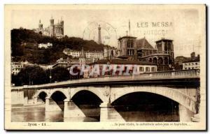 Lyon Old Postcard Tilsit The bridge cathedral Saint John and Fourviere