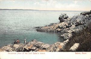 26211 MA, Salem, 1915, Norseman (Man of the Sea) Baker's Island, people ...