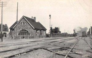 Lawton Michigan Train Station Vintage Postcard AA20118