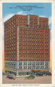 Hotel Knickerbocker - One of the New York's Finest Hotels - pm 1936 - Linen