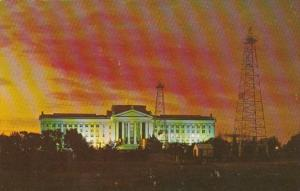 Oklahoma Oklahoma City State Capitol Building and Oil Derricks