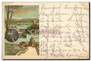 Postcard Old Train Pyrenees Biarritz