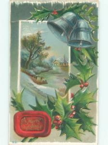 Divided-Back CHRISTMAS SCENE Great Postcard W9827