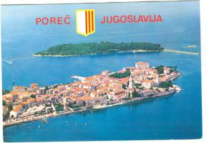 Croatia, POREC and the Island of St. Nikola, 1982 used Postcard