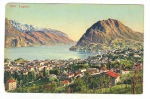 Bird´s Eye View, Lugano, Switzerland, 1900-1910s