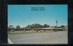 Chrome Postcard Richfield UT Park-vu Motel Unused Multi-view