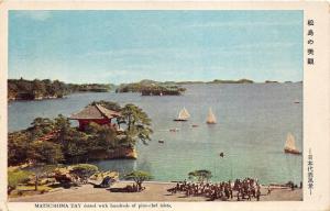 Matsushima Bay Miyagi Prefecture Japan~Sailboats~Traditional Building~1920s Pc