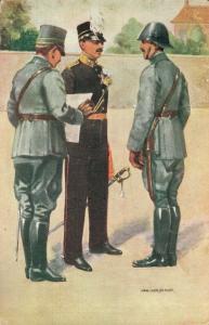 Military postcard Infanterie Officieren 02.14