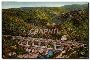Old Postcard Avignon Le Pont Du Gard