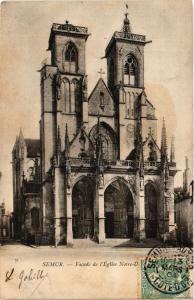 CPA SEMUR - Facade de l'Église Notre-Dame (354037)