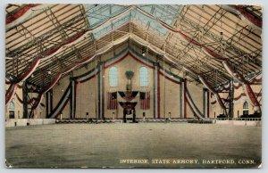 Hartford Connecticut~State Armory Interior~Patriotic Festoons~Dance Floor~1911