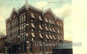 Hotel Everett Jamestown NY Writing On Back