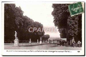 Postcard Old Saint Cloud Bridge The parterre of the Orangery View Paris