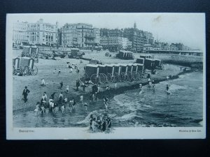 Sussex Official LONDON BRIGHTON & SOUTH COAST RAILWAY Old Postcard by Waterlow