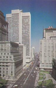 Dorchester Boulevard showing Sun Life Building and The Queen Elizabeth Hotel,...