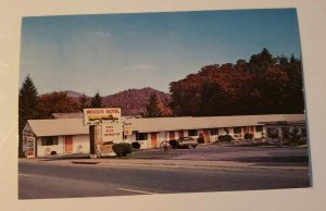 Vintage Postcard Wood's Motel Franklin North Carolina US 23-441 NC 28   689