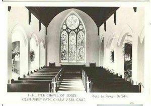 pc8058 postcard Chula Vista CA Chapel of Roses RPPC MOBSC