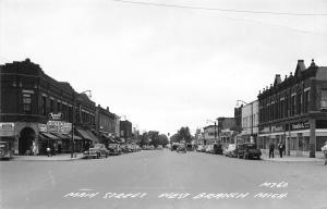 West Branch MI Gould Rexall~Sealtest Ice Cream~Gamble's~Sport Shop~1954 RPPC