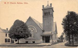 Ohio Postcard SABINA Clinton County Wilmington 1919 M.P. CHURCH