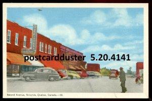 4141 - NORANDA Quebec Postcard 1930s Second Avenue. Stores by PECO