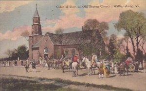 Colonial Days At Old Bruton Church Williamsburg Virginia
