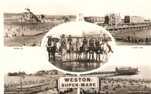 Views of Weston Supermare. the donkeys..  Tuck Real Photograph Ser. PC