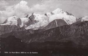 Switzerland Le Mont-Blanc vu de Geneve Photo