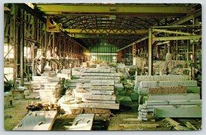 Elberton Georgia~Harmony Blue Granite Co~Finishing Plant Interior~Machinery~1965