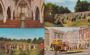 Isle Of Man Open Air Service + Church Interior + Horse Tram 4x 1960s Postcard s