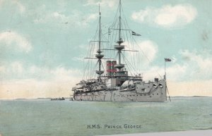 H.M.S. PRINCE GEORGE , UK Warship , 1907