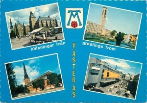 Postcard Sweden greetings from Vasteras different sights and scenes