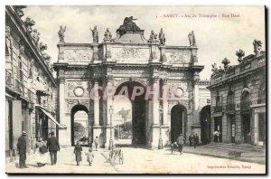 Nancy Old Postcard Triumphal Arch Street Here