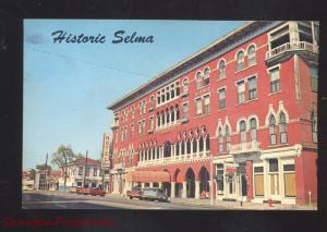 SELMA ALABAMA DOWNTOWN STREET SCENE 1960's CARS VINTAGE POSTCARD