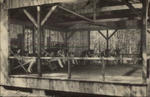 Somers CT Camp Aya-Po Reading Shack Postcard