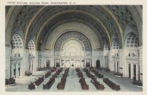 WASHINGTON D. C., 1900-10s; Union Station,  Waiting Room