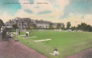 SKYTOP , Pennsylvania, 1900-10s ; Skytop Club , bowling on the green