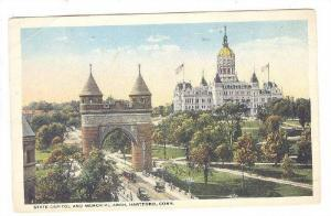 State Capitol And Memorial Arch, Hartford, Connecticut, 1910-1920s