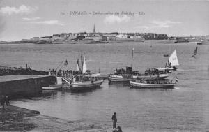 Vintage Postcard DINARD Embarkment of the Vedettes FRANCE No. 39