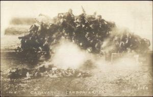 Mexican-American Conflict 1914 Battle of Tampico Burning Battles RPPC MaCabre