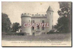 Old Postcard Chateau de Mazenc Drome Property of M Loubet President of the Re...