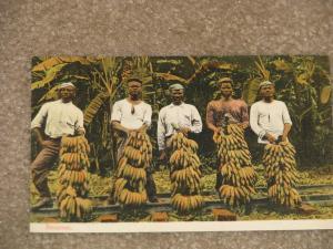 Native Men Holding Banana`s, Panama, Unused